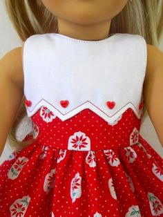 Sewing Animals A Christmas Dress for American Girl Doll American Girl Outfits, American Girl Dress, American Girl Crafts, American Doll Clothes, American Girls, Sewing Doll Clothes, Girl Doll Clothes, Girl Dolls, Dress Sewing