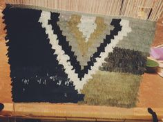 Patricia's Small Carpet - on the loom