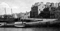 Old photograph of the harbour in Kirkwall, Orkney Islands, Scotland
