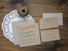 Affordable Printable Wedding Invitation - Rustic Love on Etsy, $46.00 AUD