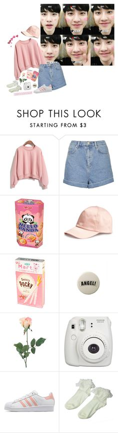 """""""kyungsoo // sweetheart"""" by fox-mulder ❤ liked on Polyvore featuring Topshop, Panda, H&M, INC International Concepts, adidas Originals and Retrò"""