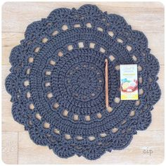 Frrrresh off my hook! Started this one in the car yesterday. The teenagers had netball matches in Durbanville. That's 2 hours to and Free Crochet Doily Patterns, Crochet Doily Rug, Crochet Coaster Pattern, Crochet Placemats, Crochet Carpet, Crochet Dollies, Crochet Birds, Diy Crafts Crochet, Diy And Crafts