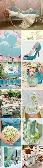 A Vintage Teal & Green Wedding by Pixel & Ink Wedding Blog, via Flickr