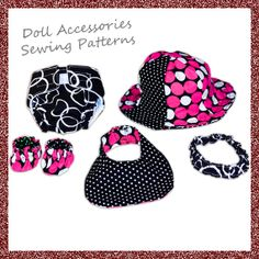 Baby Doll Accessory Sewing Pattern COMBO  INSTANT by mammacandoit, $5.00