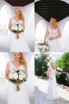 A Romantic Stylish Wedding in Folegandros with Olive Branches and White Flowers. Alessandro + Elisabetta Folegandros wedding in Kastro area (castle). Bridesmaid Dresses, Wedding Dresses, White Flowers, Romantic, Stylish, Photography, Fashion, Bridesmade Dresses, Bride Dresses