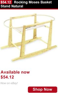 Moses Baskets: Rocking Moses Basket Stand Natural BUY IT NOW ONLY: $54.12