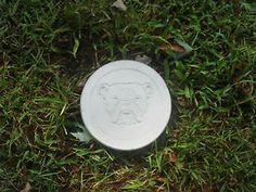 Handmade Concrete Bull Dog Stepping Stone. Lawn/Garden Decoration. Yard Art.