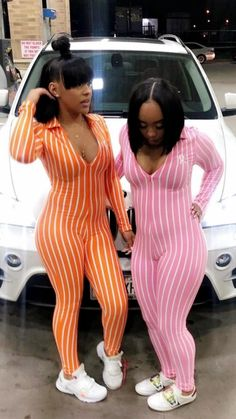 🍊' go bestie Twin Outfits, Dope Outfits, Girl Outfits, Fashion Outfits, Matching Outfits Best Friend, Best Friend Outfits, Braces Girls, Doja Cat, Besties