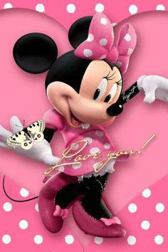 You emzy mine baby girl I love you sweetheart my Minnie Disney Mickey Mouse, Mickey Mouse E Amigos, Retro Disney, Mickey Mouse And Friends, Disney Love, Disney Art, Walt Disney, Minnie Mouse Pictures, Mickey Mouse Images
