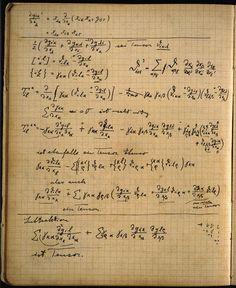 Albert Einstein's notebook