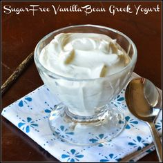 Sugar Free Vanilla Bean Greek Yogurt