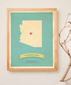 Arizona Customizable Map Print