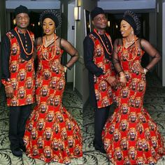 The most classic collection of beautiful traditional and ankara styles and designs for couples. These ankara styles collections are meant for beautiful African ankara couples Couples African Outfits, Couple Outfits, African Attire, African Wear, African Dress, African Clothes, African Lace, African Women, Nigerian Men Fashion
