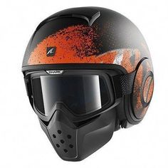 a5fcfb4a7 The Shark Raw bridges the gap between the traditional full faced helmet,  and the half shell open face helmet. This hybrid motorcycle helmet has got  style.