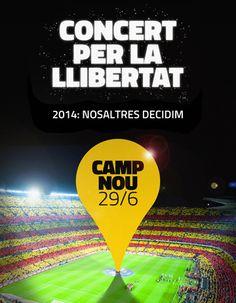 Concert per la Llibertat, Camp Nou 26/6/13 Camp Nou, Soccer, Design, Fathers, Football, Soccer Ball, Design Comics, Futbol