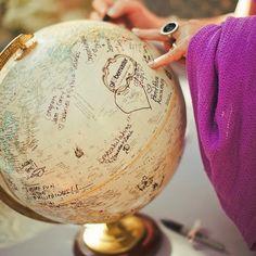 DIY livre d'or : globe-trotter