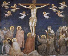 Giotto, The Crucifixion, 1310s, fresco, Lower Basilica of San Francesco d'Assisi