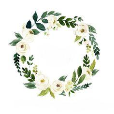 Watercolor Border, Wreath Watercolor, Watercolor Flowers, Flower Pattern Drawing, Flower Patterns, Flower Designs, Painting Flowers Tutorial, Flower Tutorial, Christian Posters