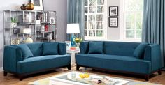 """LOVE SEAT CM6761TL-LV SOFIA COLLECTIONThis modern sofa features a tried and true design, making it a favorite living room piece. Plush seating and expert upholstery promise long-lasting quality and style. Available in a variety of colors.• Transitional Style • T-cushion Seating • Pillows IncludedDIMENSIONS:LOVE SEAT [CM6761TL-LV]62""""L X 34""""W X 32""""HCOLOR: TEAL"""