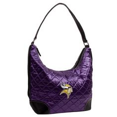 Pro-FAN-ity by Littlearth 52303-VIKG-Purp-Retro NFL Minnesota Vikings Retro Quilted Hobo by Little Earth. $46.95. The Quilted Collection features satin fabric in fashion colors with classic diamond quilted pattern faux leather trim accented with detailed embroidered team patches.. Save 21% Off!
