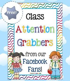 FREE download Attention Grabbers Clever Classroom blog