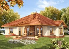 Beautiful Small Homes, Beautiful House Plans, Dream House Plans, Two Story House Design, Village House Design, Village Houses, House Design Pictures, House Construction Plan, Modern Bungalow House