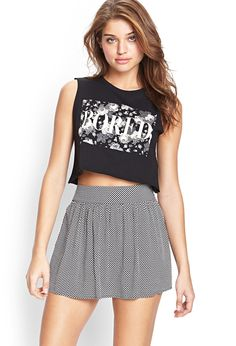 Printed Skater Skirt | FOREVER21 #SummerForever