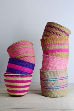 African baskets | pink home storage basket | Decorator's Notebook