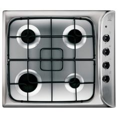 60cm 4 Burner Stainless Steel Gas Cooktop by Indesit  (PIM 640 AS IX)  Precision cooking at a great price. Affordable and powerful, this gas hob offers reliable, precise cooking for those on a budget.  It may not have all the frills and fuss of expensive models, but that certainly doesn't mean it skimps on performance.  With four responsive gas burners, easy-to-use controls and a stylish stainless steel finish, it offers all the essentials for budding chefs.