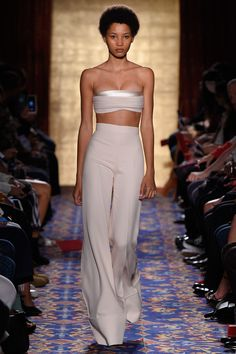 Brandon Maxwell SS17- you must have virtually NO bodyfat for this...it's cute on her!