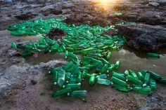 ocean trash into sculptures