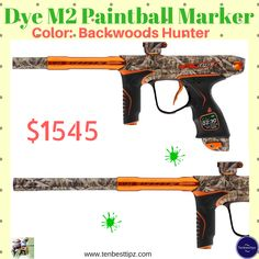 """Dye M2 Paintball Marker Color: Backwoods Hunter Price: $1545 1.1"""" Prism OLED Interface with Method Operating system 2.Wireless connection between frame and body and Internal Pressure Sensors 3.Rechargeable battery, USB chargeable 4.2-Ultralite barrel backs included .684 & .688 5.5-Way Control Joystick  #DyeM2PaintballMarker  #DyeM2  #paintballMarker #paintball  #paintballguns #paintballgun #bestpaintballgun #bestpaintballguns #guns #gun"""