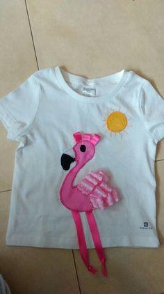 Camiseta flamenco rosa