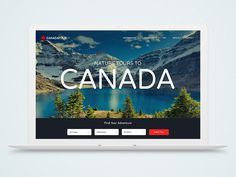 Tours to Canada website