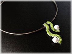 PearlWave pendants beading TUTORIAL by AsszaBeadingArts on Etsy. This listing is for the Pdf tutorial only. The finished product is not included, there are no supplies included.