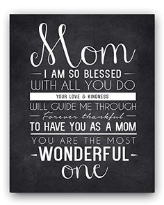 Mom Quote Chalkboard Wall Art Print, the perfect Mother's Day Gift or Gift for Mom Ocean Drop Photography