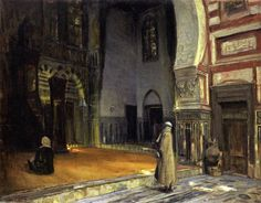 Interior of a Mosque, Cairo Henry Ossawa Tanner (1897) Museum of Fine Arts, Boston Painting - oil on canvas