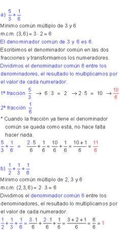 Suma y resta de fracciones ejercicios resueltos Math Equations, Teaching, Principles Of Learning, Number Lines, Education, Onderwijs, Learning, Tutorials