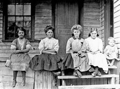 U.S. Girls working in Springstein Mills, Chester, South Carolina. Zetella Gallman (by window) has worked 2 years. Both girls in middle said they had been in mill 8 years, 1908 // Lewis Hine