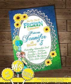 FROZEN FEVER INVITATIONS Frozen Fever by MyCelebrationShoppe