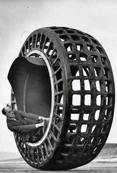 The Dynasphere was a monowheel electric vehicle invented in 1932 by Dr. J. A. Purves from Taunton, Somerset, UK. It had 2.5 horse power and once attained a speed of 25mph - http://www.cultofweird.com/laboratory/dynasphere/