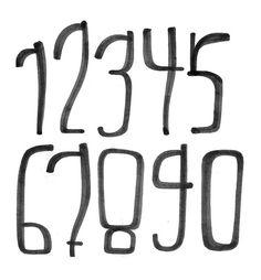#HandStyle Numbers