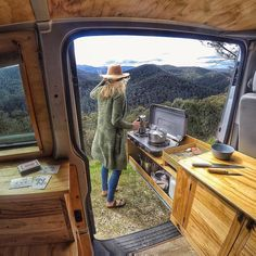 """""""Chasing views and grinding brews. Who wants to join us here for coffee?"""" From @roamingwithrob . #Vanlifers #bumbulifestyle #coffee #mountains #gopro #tinyhouse #offgrid #vanlife #vanlifediaries #vanlifeexplorers #vanlifemovement #vancrush #seeaustralia #adventure #explore #travel #outdoors #nature #wanderlust #projectvanlife #liveoutdoors #roadtrip #watchthisinstagood #ourcamplife #campeveryday #folk #teamtravelers #modernoutdoors #goexplore #discoverearth"""