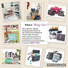 What is thirty one? We\'ve got it all! Function of the container store. Style of Vera Bradley. At target prices! Love it? Contact me to host a party. Want it all? Join my team! Amanda\'s totes adorable bags! Ask me today!!! Click the picture for more info. Spring 2017. Thirty one spring 2017. February 2017. Boss babe.