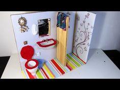 Banheiro (sanitário, pia e chuveiro)  para Barbie DIY - YouTube