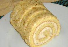 TĚSTO: Ušleháme žloutky s krupicovým cukrem do husté pěny. Bílky vyšleháme do hustého sněhu, ke kterému přidáme žloutkovou pěnu a mouku. Těsto nalijem... Czech Desserts, Cookie Desserts, Dessert Recipes, Czech Recipes, Graham Crackers, Nutella, Baked Goods, Bakery, Food And Drink