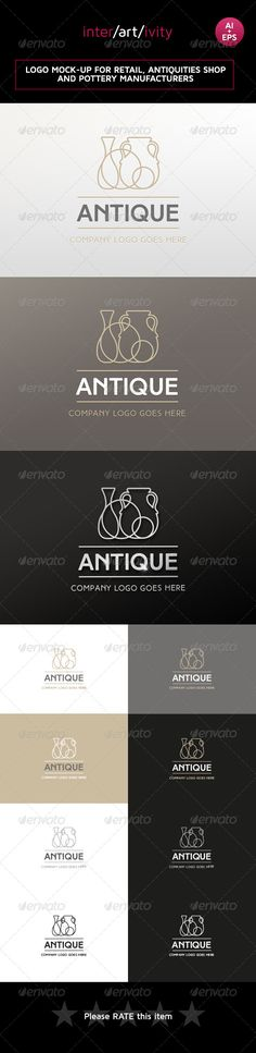 Logo design for antiques and retail