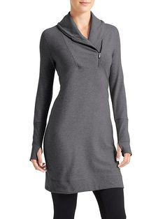 Om to Home Tunic - Designed specifically for studio <b>To Fro</b> over tights, this French terry sweatshirt dress is so live-in awesome, you might find yourself throwing it on for every occasion.