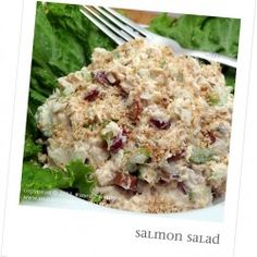 An unlikely suspect appears in this Salmon Salad!
