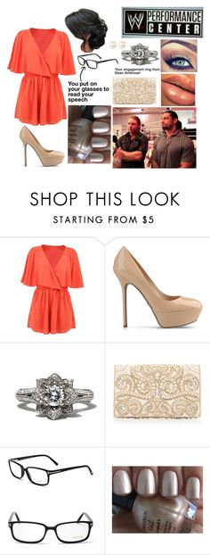 """""""You at the Opening at the WWE Performance Center"""" by kelseyylove ❤ liked on Polyvore featuring Sergio Rossi, Forever New, Maybelline, Tom Ford and Nina"""